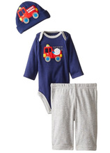 Gerber Baby Boys' Three-Piece Set, Fire Truck