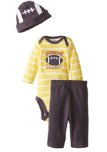 Gerber Baby Boys' Three-Piece Set, Football