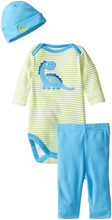 Gerber Baby Boys' Three-Piece Set, Dinosaurs