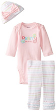 "Gerber Baby Girls' Three-Piece Set, ""Pretty Like Mommy"""