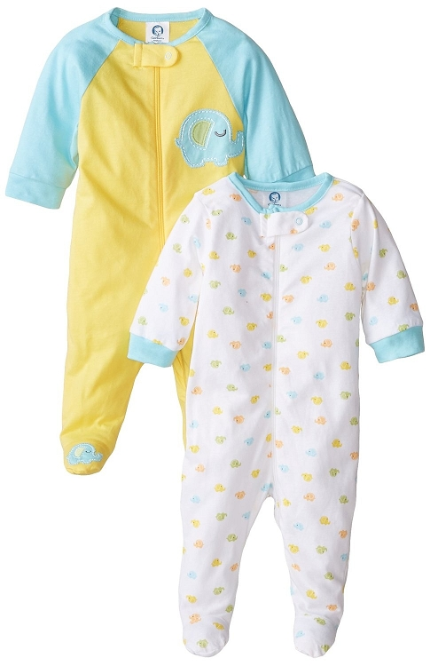 Gerber Baby Zip Front Sleep N Play 3 6 Months 2 Pack