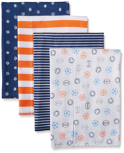 Gerber Baby Boy 4 Pack Flannel Burpcloths, Sports