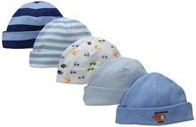 Gerber Baby 5 Pack Caps, Transportation - Newborn