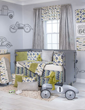 Glenna Jean Uptown Traffic 4 Piece Crib Bedding Set