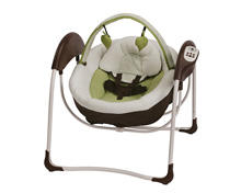 Graco Baby Glider Petite™ LX Gliding Swing, Go Green