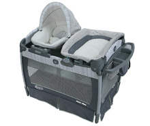 Graco Pack 'n Play® Playard with Nuzzle Nest™ Sway Seat, Mason