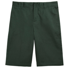 French Toast Adjustable Waist Shorts, Hunter Green