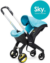 Doona™ Infant Car Seat with Base, Turquoise/Sky
