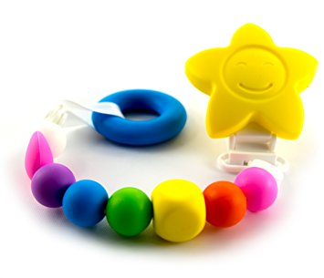 Hamco Chewee Pacifier Clip Teething Bead