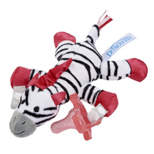Dr. Brown's® Zoey the Zebra Lovey Pacifier & Teether Holder