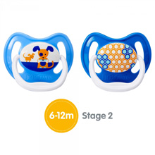 Dr.Brown's® PreVent Unique Pacifier Stage 2, 6-12 Months  BPA-Free