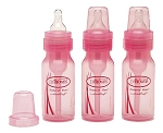 Dr. Brown's® 3-Pack 4oz Reduce Colic Printed Bottle, Pink
