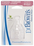 Dr. Brown's 2 Pack Natural Flow Preemie Standard Nipple