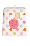 Baby Starters Plush Pink Rosette and Polka Dot Blanket