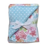 Baby Starters Plush Multi Color Flower Blanket