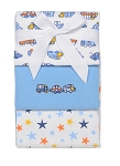 Baby Starters Transportation and Stars 3-pack Receiving Blankets Blue