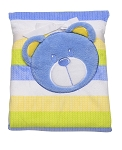 Baby Starters Printed Boa Coral Plush Blanket 2-Ply Blue Bear