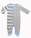 Carters Velour Sleep n Play with Grow Cuff and Hat