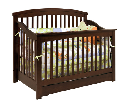 baby harmony convertible crib in espresso by million dollar baby