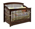 Million Dollar Baby Harmony Convertible Crib in Espresso