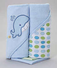 Frederic Lou Baby Hooded Towel Blue