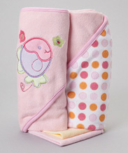 Frederic Lou Baby Hooded Towel Pink
