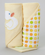 Frederic Lou Baby Hooded Towel Yellow