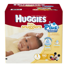 Huggies Little Snugglers Plus Diapers Size 1, 192 Count