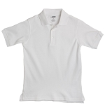 French Toast Interlock Polo, White