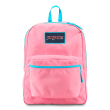 Jansport Overexposed Backpack, Pink Pansy/Mammoth Blue