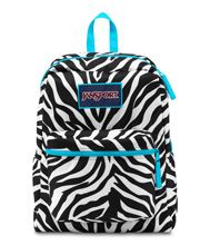 Jansport Overexposed Backpack, Miss Zebra Mammoth Blue