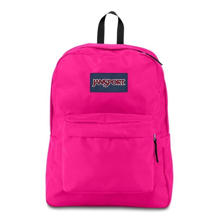 Jansport Superbreak Backpack Cyber Pink Ideal Baby