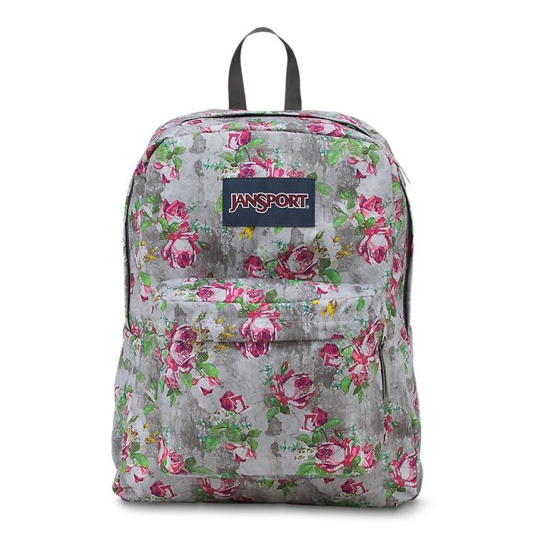 Jansport Superbreak Backpack Multi Concrete Floral