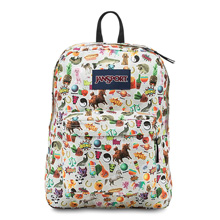 Jansport Superbreak Backpack, Multi Stickers