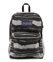 Jansport Superbreak Backpack, Multi Black Painted Stripes