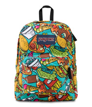 Jansport Superbreak Backpack, Multi Junk Food
