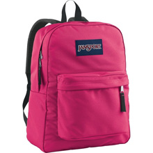 Jansport Superbreak Backpack Flourescent Pink