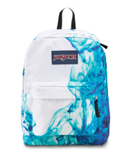 Jansport Superbreak Backpack, Multi Blue Drip Dye