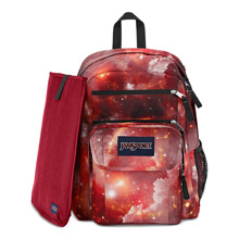 Jansport Digital Student Backpack, Multi Red Galaxy