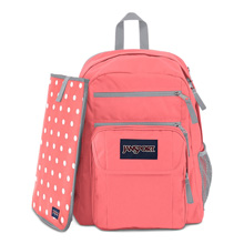 Jansport Digital Student Backpack, Coral Sparkle/White Dots