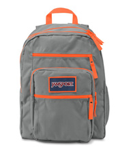 Jansport Big Student Overexposed Backpack, Shady Grey Flourescent Orange