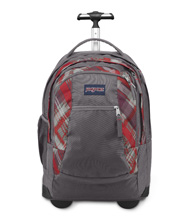 Jansport Driver 8 Backpack, Coral Dusk Sideways Plaid