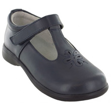 Jumping Jacks Terrific T-Strap Shoe, Navy - Wide Width Only