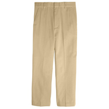 French Toast Boy's Adjustable Waist Double Knee Pant, Khaki