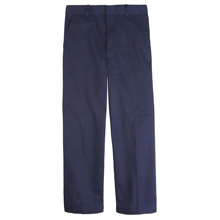 French Toast Boy's Adjustable Waist Double Knee Pant, Navy