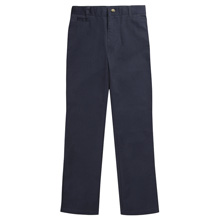 French Toast Boy's Slim Straight Leg Pant, Navy