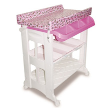 Karibu Changing Station with Tub Pink