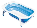 Karibu Folding Bath Tub White-Blue