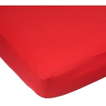 Kids Line Easy-Fit Sateen Crib Sheet Red