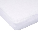 Carter's Easy Fit Jersey Crib Fitted Sheet in White